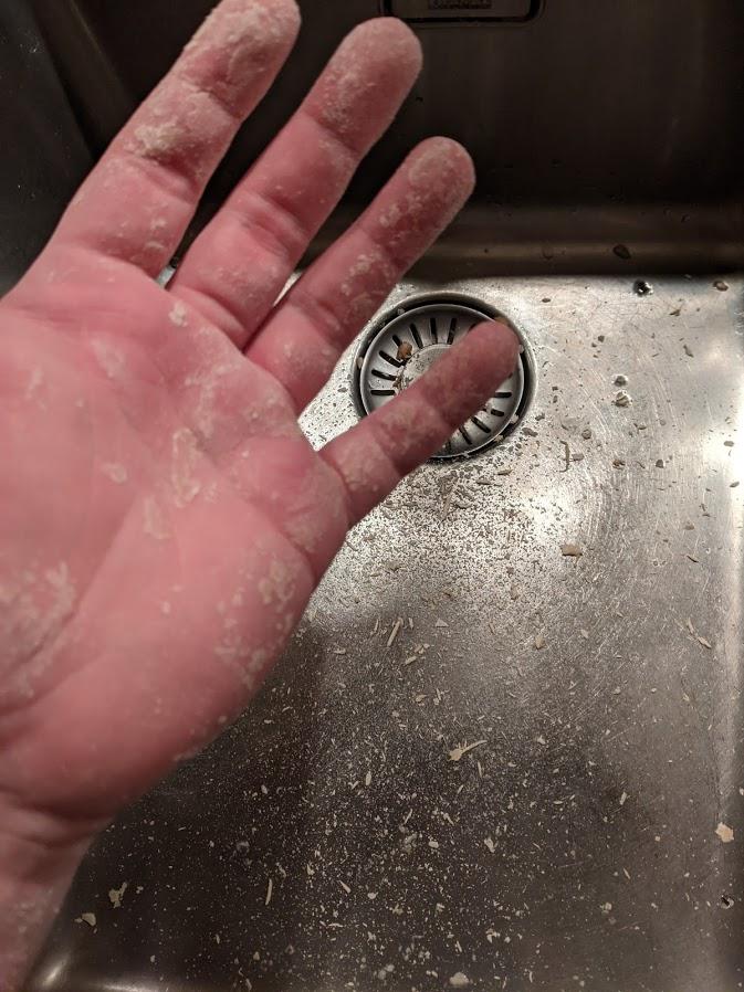 Makkelijker handen wassen na het kneden van brooddeeg