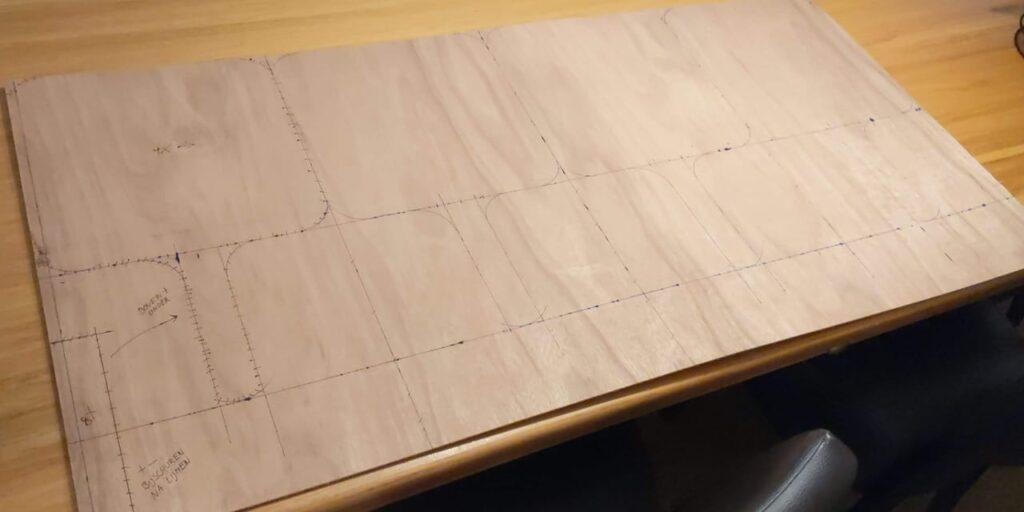Pizzaschep tekening