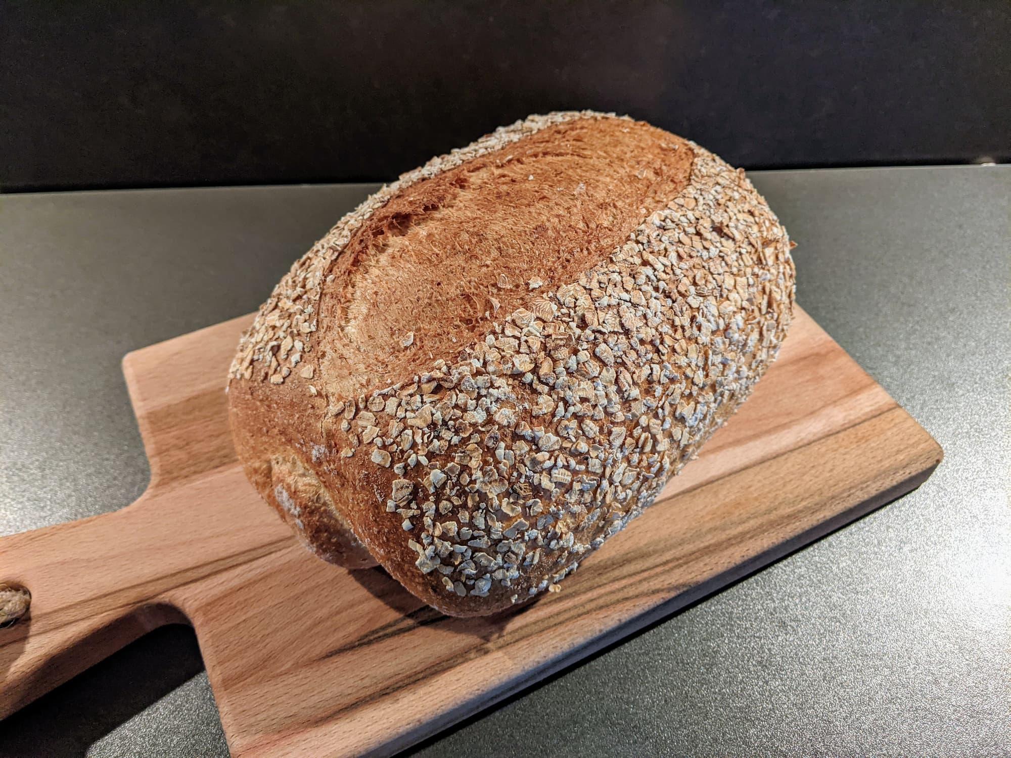 Bruin haverbrood met 20% Havermeel