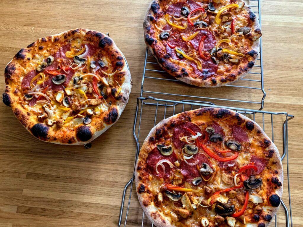 Pizzabodem 80/20 (Tarwebloem en Semola) - Na het bakken