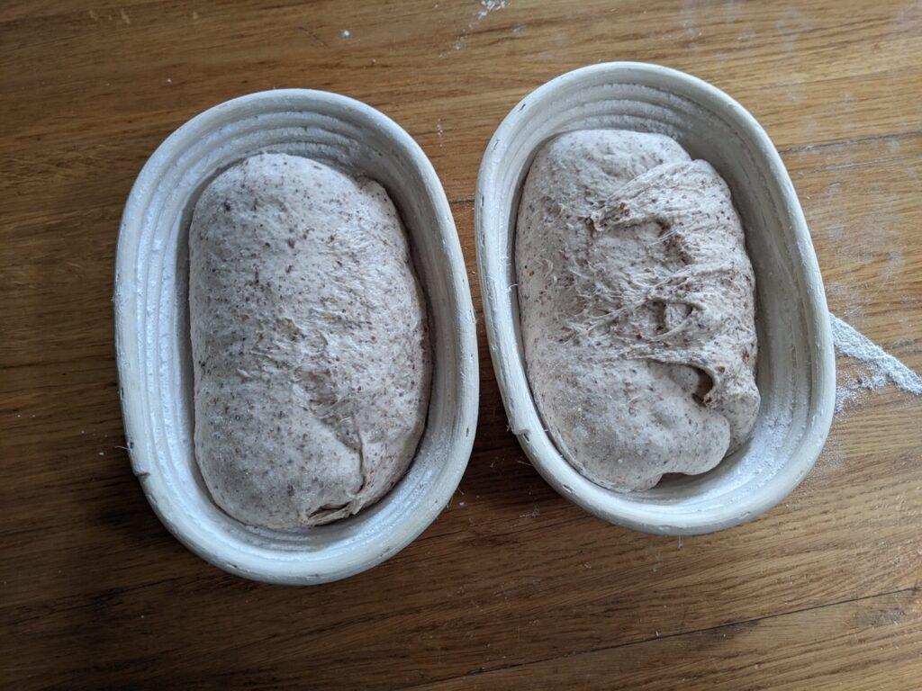 Resultaat van het niet kneden brood 1
